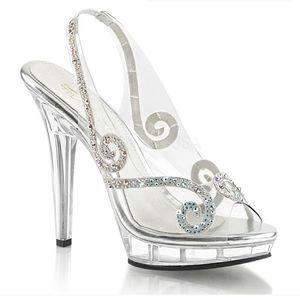 "5"" High Heels Princess Rhinestone Platform Shoes"